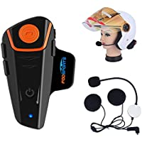 Fodsports BT-S2 Moto Intercom Bluetooth Headsets Impermeable Auriculares Intercomunicador de Casco de Motocicleta con
