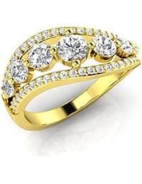 Silvernshine Women's Lady Fashion Round Cut Sim.Diamond Wedding Engagement Ring Jewelry