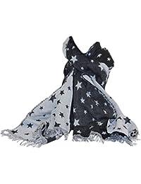 Wende Winter XL Schal/ Tuch Stola Sterne Vintage Trend
