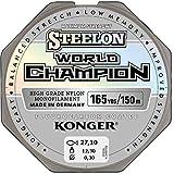KONGER Fiskelina världsmästare fluorkol belagd 0,10 – 0,30 mm/150 meter monofilamentlinje, superstark, toppkvalitet –