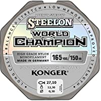 Angel cuerda Konger World Champion fluorocarbono Coated 0,10–0,30mm/150m monofile cuerda Super fuerte. Top Calidad. (0,02€/m)