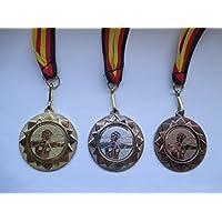 Medaillen Bogenschießen Kids Medaillen 3er Set Deutschland-Bändern Pokal Turnier Schützen