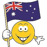 Aufkleber Australien Navy Flagge Fahne 12 x 8 cm Autoaufkleber Sticker