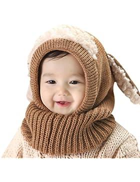 Tuopuda Baby Kinder Winter Warm Gestrickter Mütze Beanie Mütze Haube Strickmütze Wintermützen Earflap Hut Kappe...