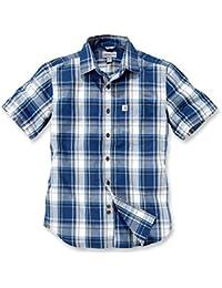 Carhartt 102548 Slim Fit Plaid Short Sleeve Mens Work Casual Shirt