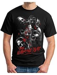 OM3 Dead-Walking - T-Shirt Zombies Horror Bloody Splatter Movie Gru 666 Geek Emo, S - 5XL