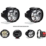 A2D L3C 6 LED Transformer Bumble Bee Style Bike Fog Light Lamp Assembly White Mini with Switch Set of 2-Mahindra Duro 125