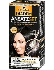 Schwarzkopf Diadem Ansatzset Haarfarbe, A5 Schwarz, 3er Pack (3 x 22 ml)