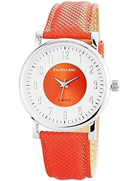 Excellanc Damen-Armbanduhr Analog Quarz verschiedene Materialien 195022800179