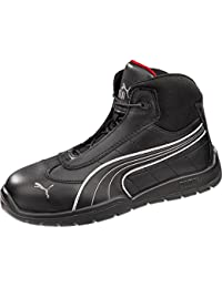 1e194c12a6e9fb Puma Safety Black Mens Leather Daytona Mid SD WRU ST LaceUp Work Boots 7 W
