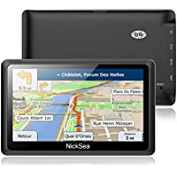 """5"""" GPS Automatique de Voiture Moto 8GB, NickSea Appareil de Navigation Écran Tactile, Intégrer Le Système des Instructions Vocales, Système de Navigation avec Multi-Langues Gratuites Cartes"""