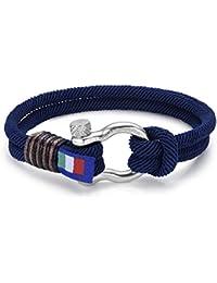 Neu Herren Armband in blau marine. Italienischer Schmuck. Luca Barra DBA887. Wasser Sport, Segeln, Mode, Stil