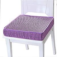 Preisvergleich für JianMeiHome Kissen Stuhlkissen Sitzkissen Tatami Mat Haushalt Schwamm Kissen Tatami Kissen Rutschfest Sitzkissen lila (Size : 50 * 50 * 8cm)