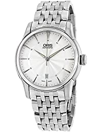Oris Artelier Date Automatic Stainless Steel Mens Watch Silver Dial Date 733-7670-4051-MB