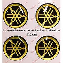 Escudo Logo Decal Yamaha, Kit de 4 Pegatinas resinati, efecto 3d.)  Color