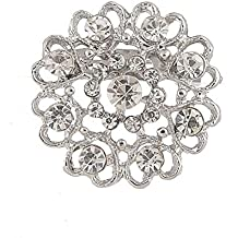 lumanuby 1 x Broche Fantasía en forma de corazón Creux pedrería moda broche brillantes joyas de