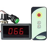 uniquegoods Controlador de velocidad del motor PWM DC con LED Regulador del interruptor remoto IR de pantalla digital 6V 12V 24V (5A)