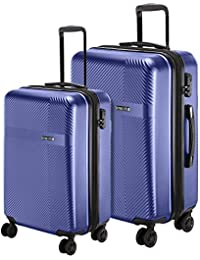 6f60b774a Nasher Miles Fifth Avenue Expander Hard-Side Polycarbonate Luggage Set of 2  Trolley Bags (