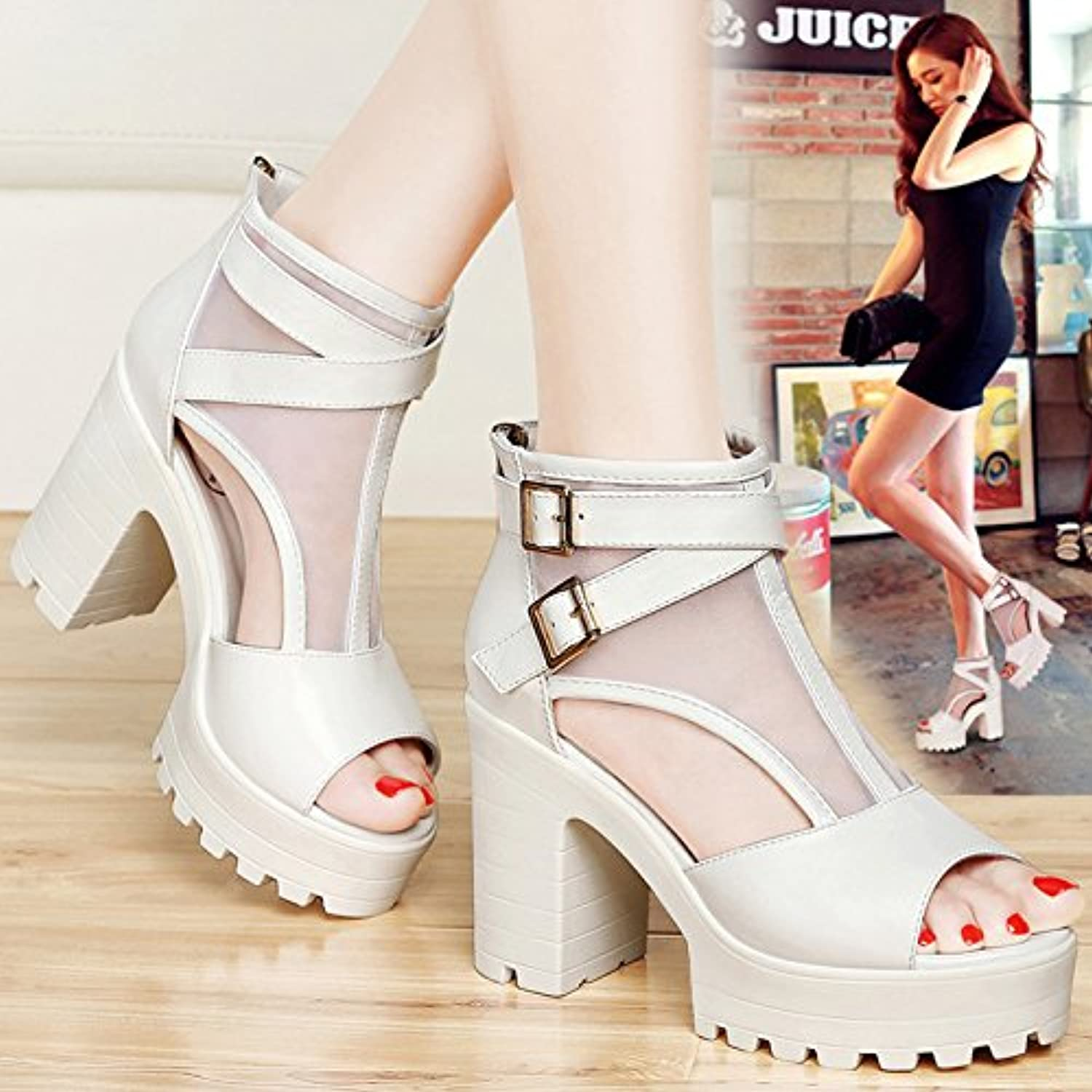 5328a4cefc4f SHOESHAOGE Sandals Female Thick With Waterproof Taiwan High-Heeled Fish  Fish Fish Mouth Shoes