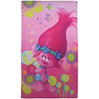 CTI Trolls Poppy–Toalla de playa algodón rosa 70x 120cm.