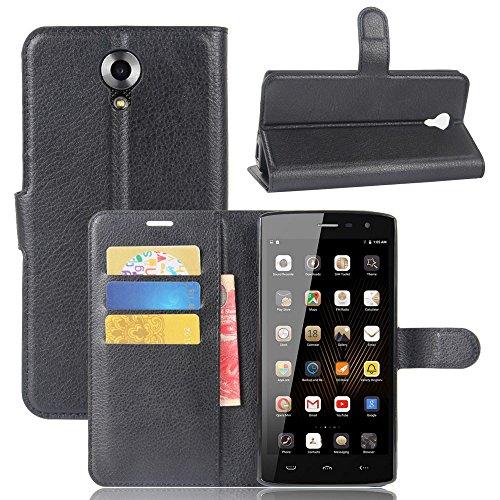GARITANE Homtom HT7 Hülle Case Brieftasche mit Kartenfächer Handyhülle Schutzhülle Lederhülle Standerfunktion Magnet für Homtom HT7 (Schwarz)