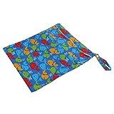 MagiDeal Baby Kleinkind Wasserdichtem Reißverschluss wiederverwendbare Stoff Windel Tasche -