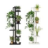 ZDD Multi-funktionale Green Loft Hängende Orchidee Regal Wohnzimmer Schlafzimmer Stahl Holz Regal Multilayer Indoor Eisen Blume Regal (Farbe : Weiß, größe : W40cm*H143cm)