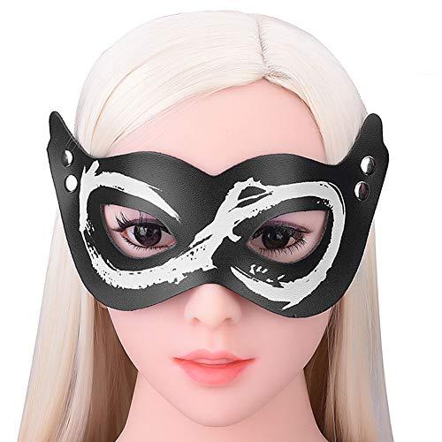 (Erwachsene Sexspielzeug Sexy Reizvolle Maske BDSM Fessel Rollenspiele Zubehör,Black)