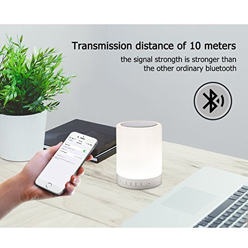 Bedside Lamp,AIZBO Smart Touch Sensor Table Lamp with Wireless Bluetooth Speaker & RGB Color Changing LED Night Light