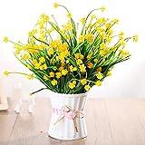 LIXIAOXIN Falsche Blume Simulation Set Wohnzimmer Möblierung Dekoration Schmuck Kunststoff Topfpflanzen Gelb Jasmin