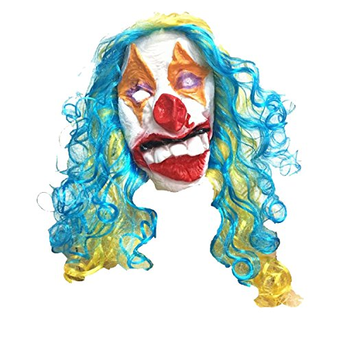Clown Scary Latex Kopf Maske Halloween (Scary Clown Köpfe)