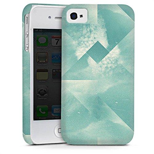 Apple iPhone 4 Housse Étui Silicone Coque Protection Triangles Triangles Triangles Cas Premium mat