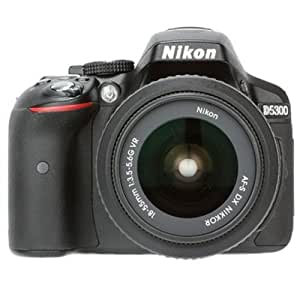 Nikon D5300 24.2MP Digital SLR Camera (Black) with AF-P 18-55mm f/ 3.5-5.6g VR Kit Lens, Card and Camera Bag