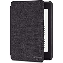 Amazon Kindle Paperwhite Water-Safe Fabric Cover, 10th Generation, 2018 Release - Charcoal Black