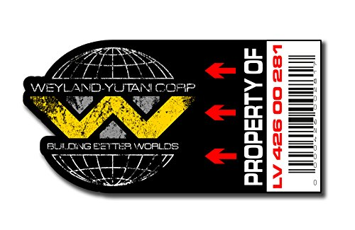 Asset Tag - Property of Weyland-Yutani Sticker set Aufkleber-Set, Motiv: , digitaler Druck, 12 PVC Stück