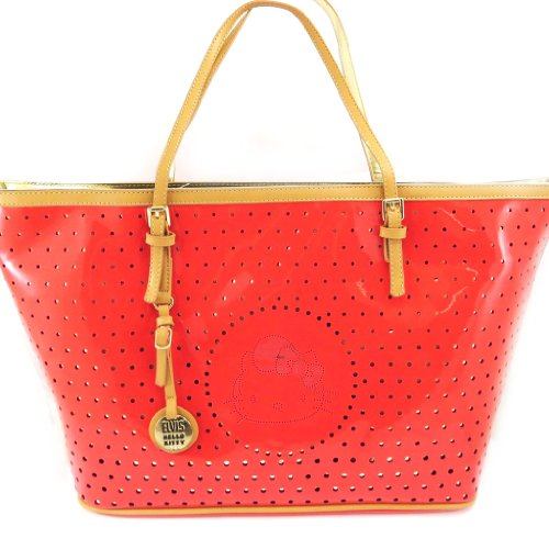 Designer-tasche 'Hello Kitty'korallen. - Kitty Shopper Tasche