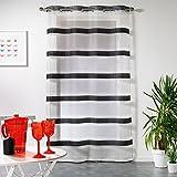 Douceur d 'Intérieur Atika Panel Ösen, Polyester, schwarz, 140 x 240 cm