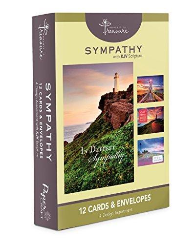Leuchtturm Beileidskarten Bulk KJV Scripture-Grußkarten für Sie für Ihn ()