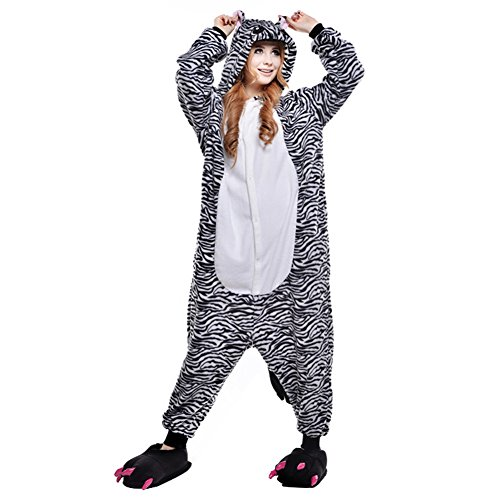Free Fisher Damen/ Herren Schlafanzug Pyjama, Tier Kostüm, -