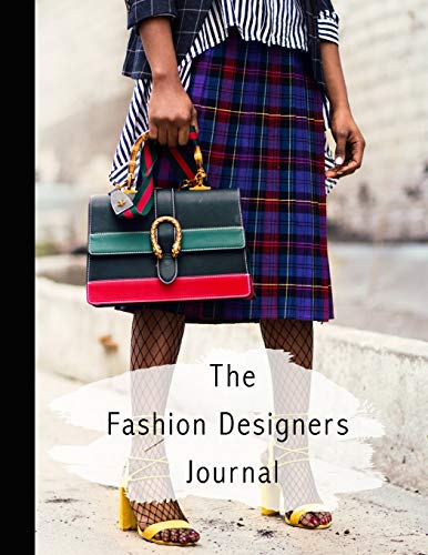 The fashion designers journal: Fashion design journal for the aspiring fashion designer - Fashion icon in tartan skirt (Diy Teen Kostüme Girl)