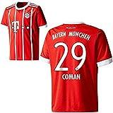 FC Bayern München FCB Home Trikot 2017 2018 mit Spieler Name rot (Coman, 164)