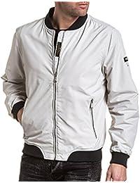 Legenders - Blouson homme blanc zippé avec poches