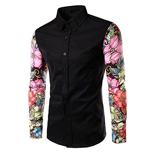 Vin beauty wlgreatsp Damen Manschette Drucken Nähen Hemd (Button-down-nicht-eisen-pinpoint)