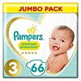 Pack 66 Couches Pampers Premium Protection Taille 3
