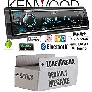 Autoradio-Radio-Kenwood-KMM-BT505DAB-DAB-Bluetooth-iPhoneAndroid-Spotify-VarioColor-Einbauzubehr-Einbauset-fr-Renault-Megane-Scenic-2-JUST-SOUND-best-choice-for-caraudio