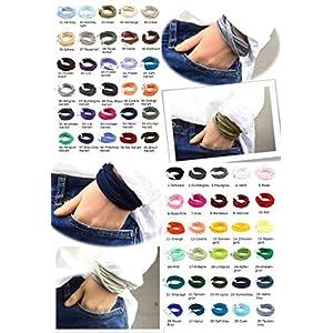 7er Paket Armband Wickelarmband Stoff handgefertigt in Wunschfarben unisex Freundschaftsarmbänder Freundschaftsbänder individuelle Geschenke für Freunde