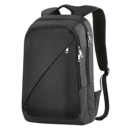 REYLEO Laptop Backpack Rucksack Business Bag Casual Daypack for Men and Women, School, Work, Travel - 19L / Black