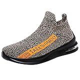 Luckycat Sneaker Herren Damen Sommer Mesh atmungsaktive Turnschuhe leichte Casual Slip On Laufschuhe Outdoor Sicherheitsschuhe Trekkingschuhe Sneakers Schuhe Trekking Schuhe Outdoor Hiking Sneaker