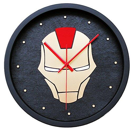 FUHOAHDD Ironman Stereo Wanduhr Kreativ Kinder Schlafzimmer Dekoration Wall Clock (Ironman-uhr Für Kinder)