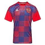 Adidas Rusia de Home Pre Match Camiseta, Todo el año, Hombre, Color Red/Poblue, tamaño Large